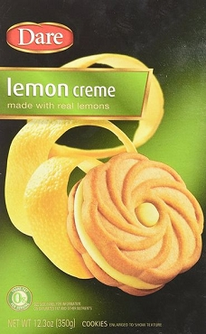 Dare Lemon Creme Cookies, 12.3 Oz Packages (Pack of 12)