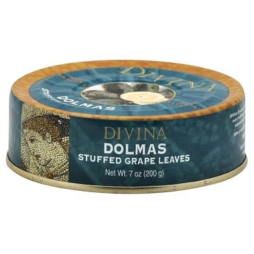 Divina Dolmas (Stuffed Grape Leaves), 7 oz tins, Case of 12 Tins