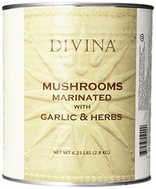 Divina Mushrooms Marinated with Garlic & Herbs - 6.25 lb