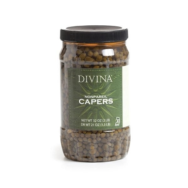 Divina Non-Pareil Capers (small), 32 Oz Jar, 2 Pack