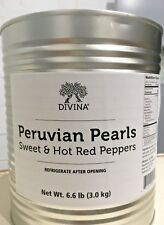 Divina Peruvian Pearls Sweet & Hot Red Peppers, 6.6 Lb Can (food service pack)