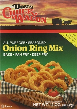 Don's Chuck Wagon Onion Ring Batter Mix 12 oz- Pack of 6