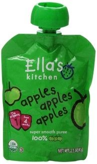 Ellas Kitchen Organic Apples Super Smooth Puree- 2.5 Oz - 12 Pk
