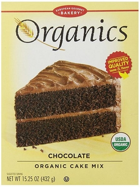 European Gourmet Bakery Organic Chocolate Cake Mix, Case of 12 Boxes