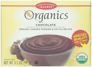 European Gourmet Organic Chocolate Pudding Mix 3.5 oz, Case of 12 Boxes