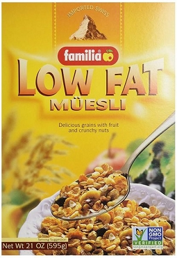 Familia Low-Fat Muesli Cereal, 21 Oz Boxes (Pack of 6)