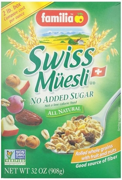 Familia Swiss Muesli Cereal (No Sugar Added)- 32 oz- 6 Pack