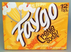 Faygo Creme Soda Soft Drink- 12 pack of 12 oz Cans