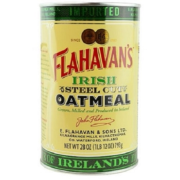 Flahavan's Irish Steel Cut Oatmeal, 28 oz Tins, Case of 6 Tins