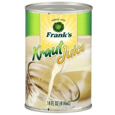 Frank's Kraut Juice, 14 oz, case pack of 12 Cans
