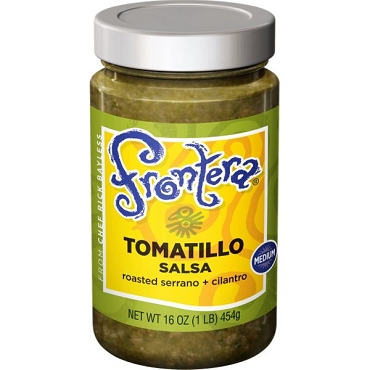 Frontera Tomatillo Salsa (Med.)- - Case Of 6 - 16 Oz Glass Jars