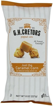 G H Cretors Popped Corn, Caramel Corn, 8 Oz (Pack of 12)
