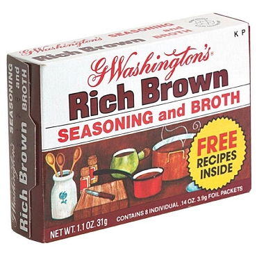 G Washington Broth, Brown, 1.1 OZ (Pack of 5 Boxes)