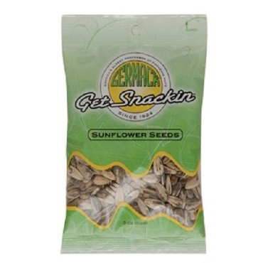 Germack Sunflower Seeds - In-Shell - 3 oz, Case of 12 Bags
