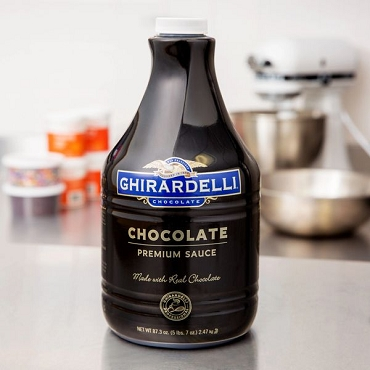 Ghirardelli Black Label Chocolate Flavoring Sauce - 64 oz.