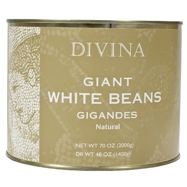 Giant White Beans- Natural, 70 Oz tin by Divina