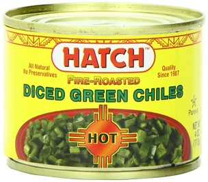 Hatch Diced Hot Green Chilies, 4-Oz (Pack of 12 cans)