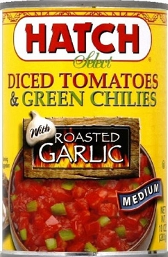 Hatch Diced Tomatoes & Green Chilies w/ Garlic, 12 Pack(medium)