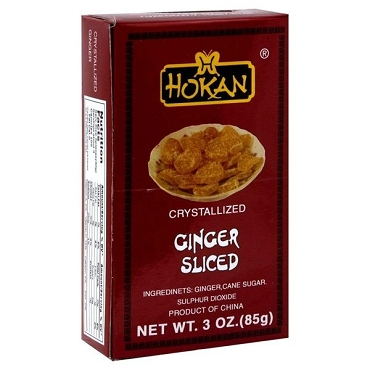 Hokan Ginger - Sliced and Crystallized 3 Oz Box (Pack of 6)