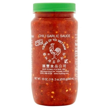 Huy Fong Vietnamese Style Chili Garlic Sauce, 18 oz, Pack of Six Jars