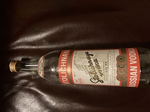 USSR Vintage Stolichnaya Bottle with Cap