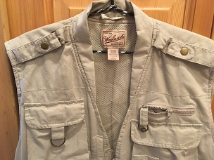 Woolrich safari vest photog, fishing, Mens Large, Used but RETAIL CONDITION