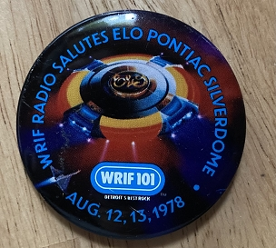 ELO 1978 Tour Button, 2 1/2