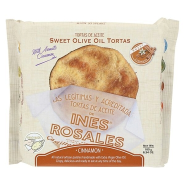 Ines Rosales Cinnamon Sweet Olive Oil Tortas - - 6.3 oz - Case of 10