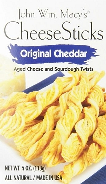 John Wm. Macy's Original Cheddar CheeseSticks, (Pack of 12)