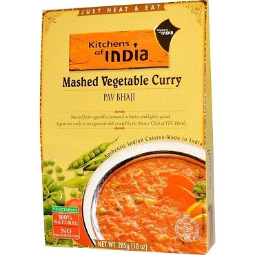 Kitchens of India Mashed Vegetable Curry(Pav Bhaji), 10 oz - 6 Pack