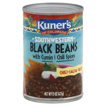 Kuner's Of Colorado Black Beans With Cumin And Chili Spices (Pack of 12)