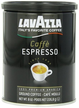 Lavazza Caffe Espresso - Medium Ground Coffee-6 Pack 8 oz
