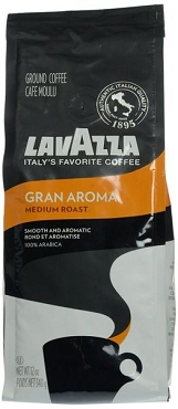 Lavazza Gran Aroma Medium Roast Coffee, Ground- 12 OZ - 6 Pack