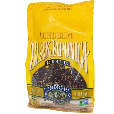 Lundberg Gourmet Black Japonica Field Blend Rice, 1 LB (Pack of 6 Bags)