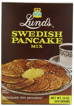 Lunds Swedish Pancake Mix, 12 Oz Boxes (Pack of 6)