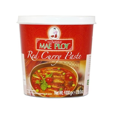Mae Ploy Thai Red Curry Paste, 35 Oz Tub, 3 Pack