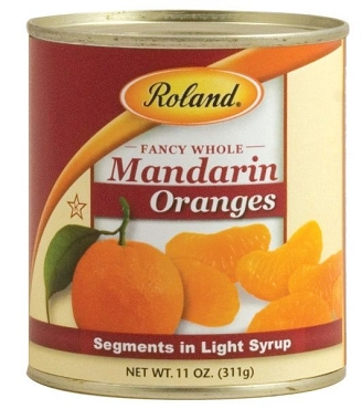 Mandarin Oranges Segments in Light Syrup, 11 oz cans - 24 CAN PACK