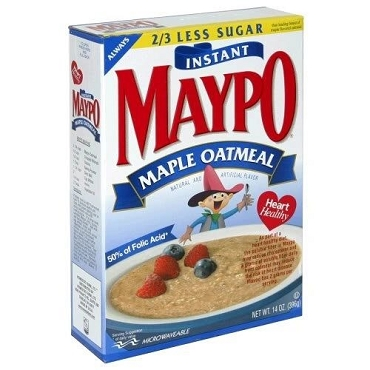Maypo Maple Oatmeal  Instant Hot Cereal, 14 oz (Pack of 6)