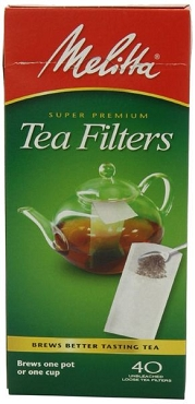 Melitta Tea Filters 40 count boxes - 6 Boxes