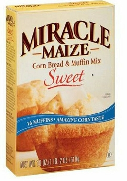 Miracle Maize Sweet Corn Bread Muffin Mix - 18 Oz - Pack of 6