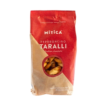 Mitica Taralli with Peperoncino, 8.8 oz Bag, Case of 12 Bags
