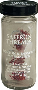 Morton & Bassett Saffron Threads, .01-Oz capsules (Pack of 3)