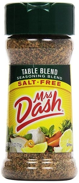 Mrs. Dash TABLE BLEND Salt-Free Seasoning 2.5 oz (6 Pack)