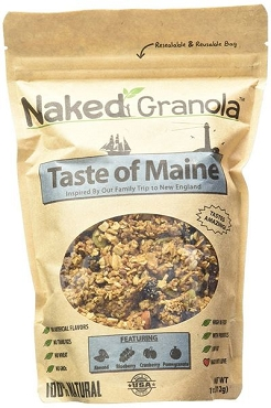 Naked Granola Taste of Maine Bagged Granola, 11 Oz, Case of 6