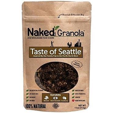 Naked Granola Taste of Seattle - 11 oz bags, Case of 6 Bags