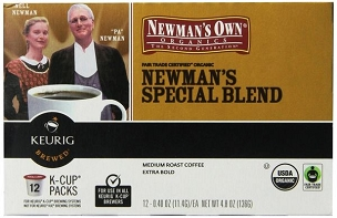 Newman's Own Organic Special Blend Coffee, K-Cup-72 PK