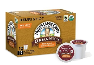 Newman's Own Organic Special Blend Decaf K-cups 6 -12-Ct Box