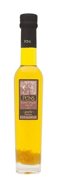 PONS Infused Extra Virgin Olive Oil w/ Garlic - 8.5 oz- 6 Pack