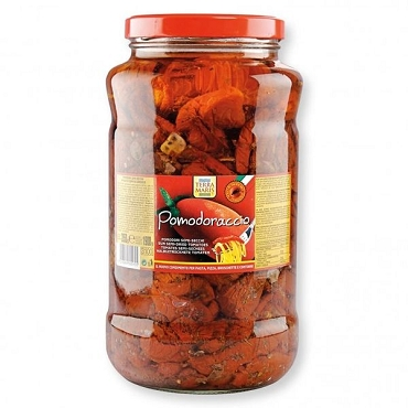 Pomodoraccio Semi-Sundried tomatoes in Oil, 99 Oz Glass Jar