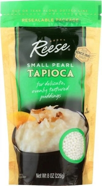 Reese Small Pearl Tapioca, 8 Oz Zip Pouch -- 6 Pouch Case.